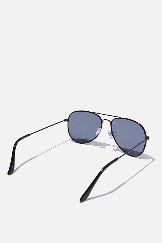 Arabella Metal Sunglasses, BLACK