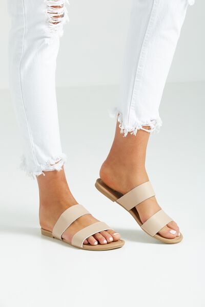 Everyday Double Strap Slide, BLUSH