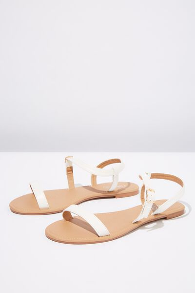 Everyday Bella Wrap Sandal, WHITE PU