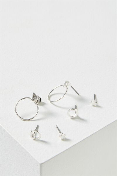 Bianca Core Stud Pack, SILVER
