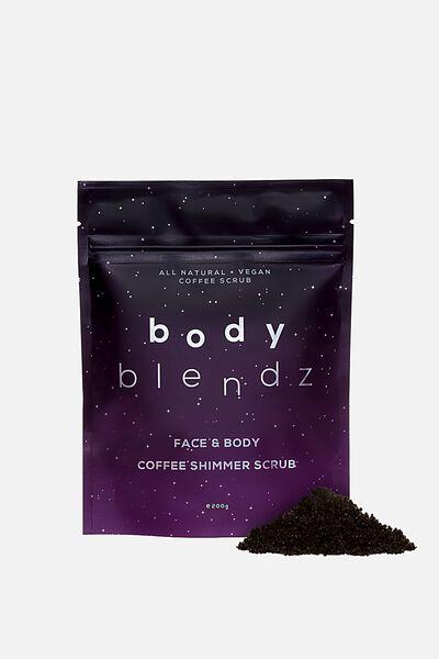 Body Blendz Shimmer Scrub, FACE AND BODY COFFEE