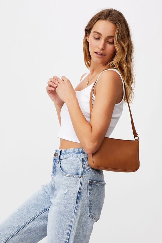 Lexi Underarm Bag, TAN