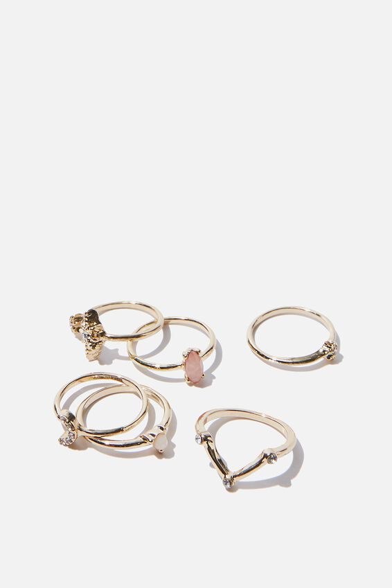 Luxe Layers Celestial Ring Set, GOLD