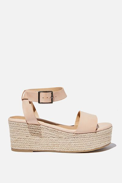 Crystal Espadrille Wedge, PALE TAUPE