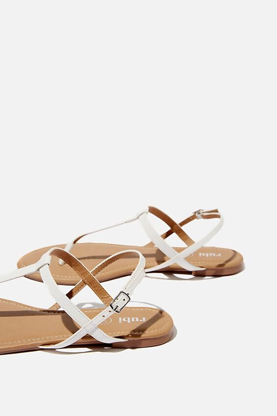 Everyday Toe Post Sandal, WHITE PU