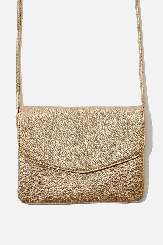 Mikaela Cross Body Bag, GOLD METALLIC