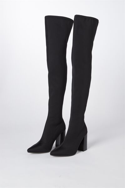 Alana Over The Knee Boot, BLACK