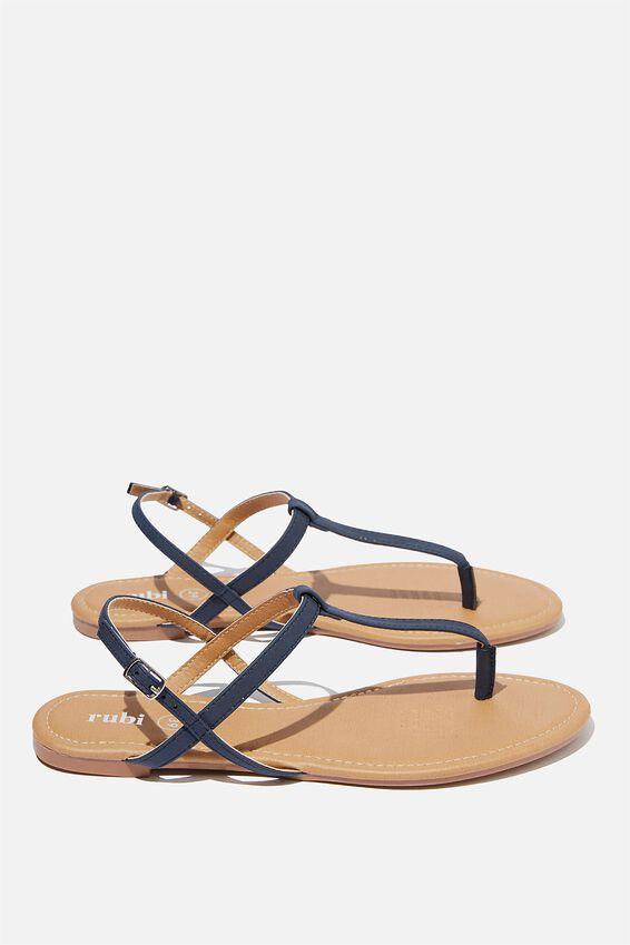 Everyday Toe Post Sandal, NAVY NUBUCK