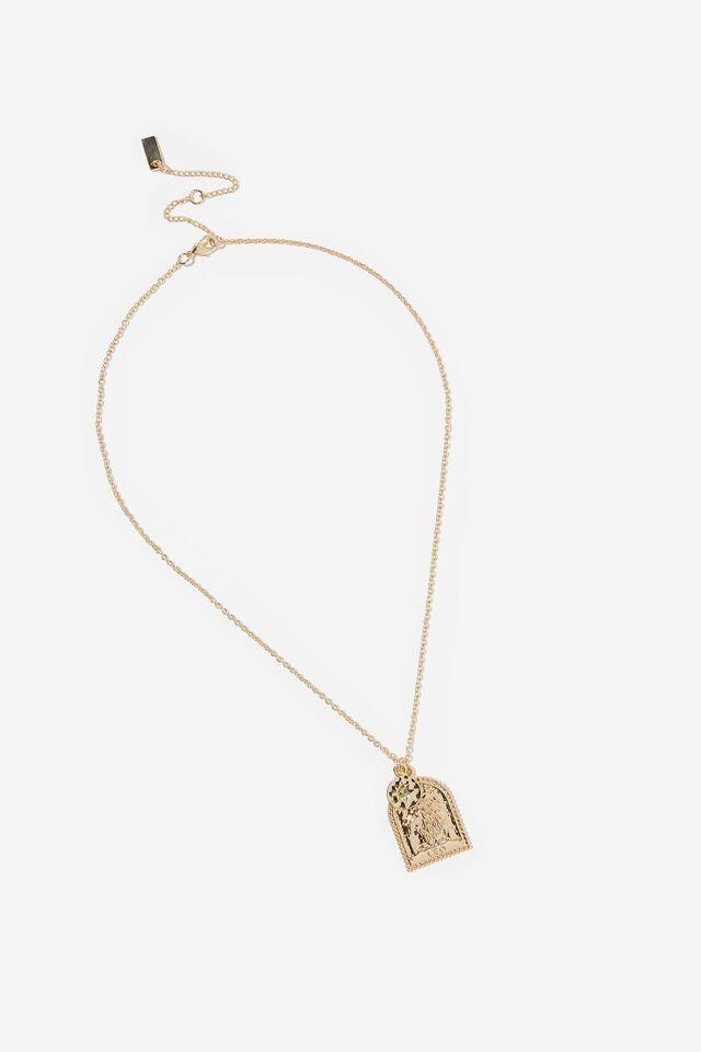 Premium Zodiac Necklace, GOLD PLATED LEO