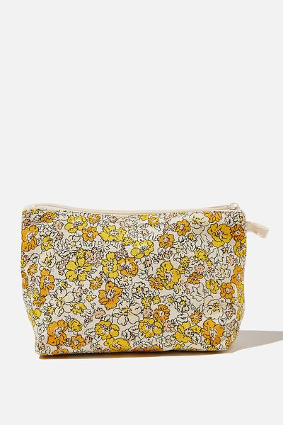 Cosmetic Pouch, MAGGIE DITSY DAISY LEMON