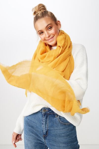 Lily Light Weight Scarf, MUSTARD