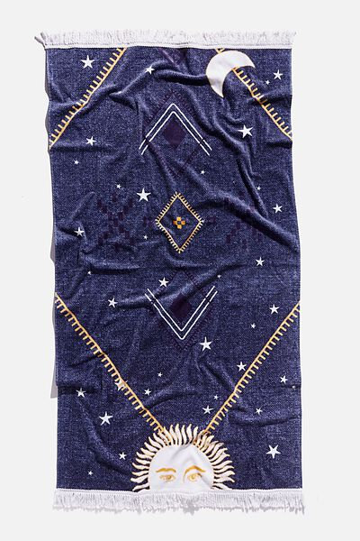 Bondi Rectangle Towel, CELESTIAL AZTEC PRINT