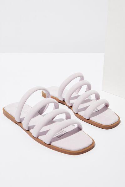 Chole Strappy Sandal, PALE LILAC MICRO