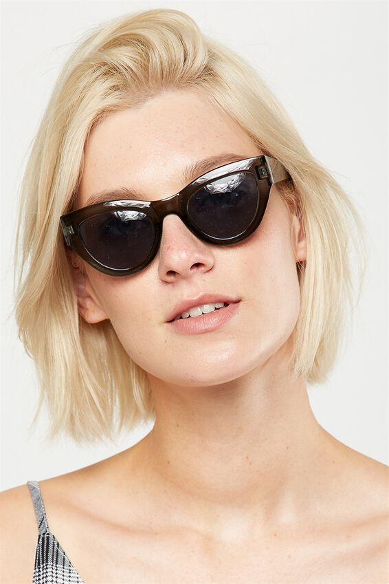 Jade Full Frame Sunglasses, TINTED BLACK