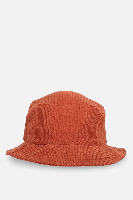 Bella Bucket Hat, RUST CORD