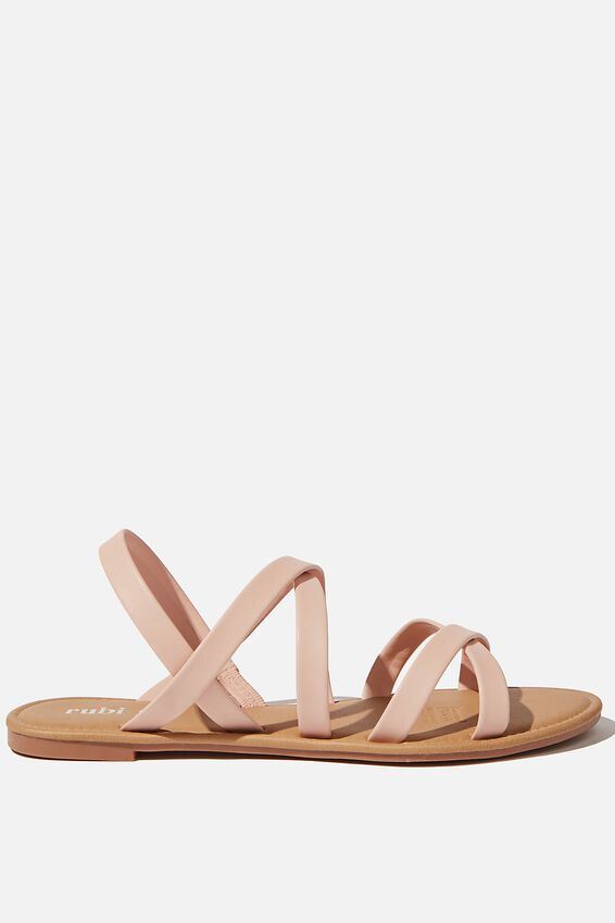 Lucy Strappy Slingback Sandal, SUGAR PINK PU