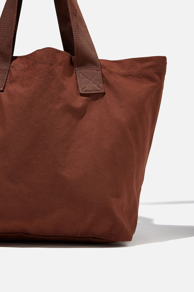 Everyday Canvas Tote, SIENNA BROWN