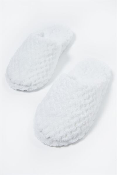 The Plush Slipper, WHITE TEXTURE