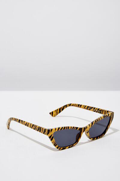 Lily Short Frame Sunglass, TIGER PRINT