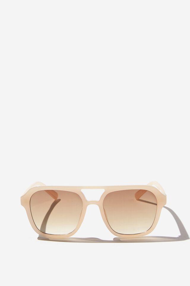 Jaz Oversized Aviator Sunglasses, BUTTERMILK
