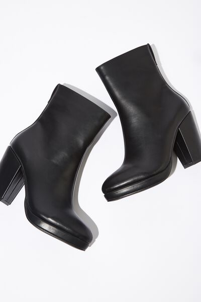 Danique Platform Boot, BLACK SMOOTH