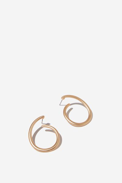 Someday Classic Earring, MATTE GOLD