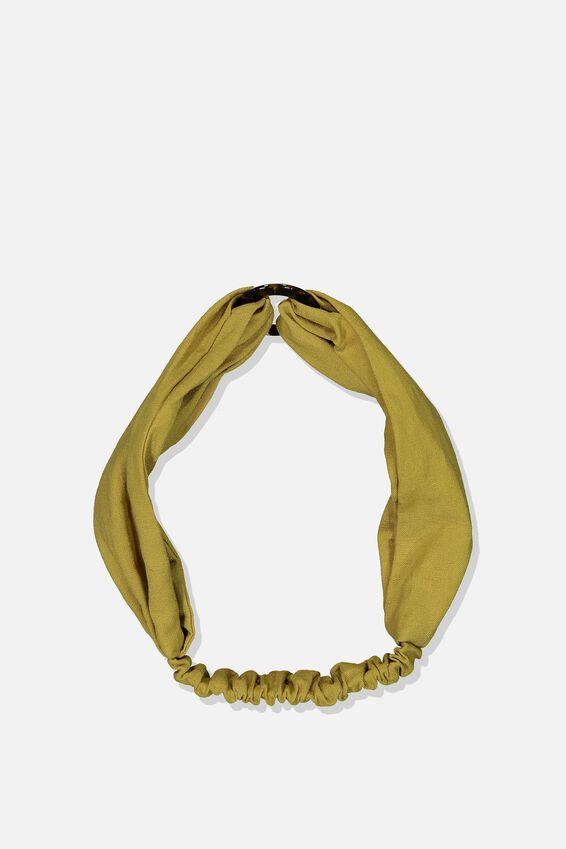 Tort Ring Headband, ANTIQUE MOSS/TORT