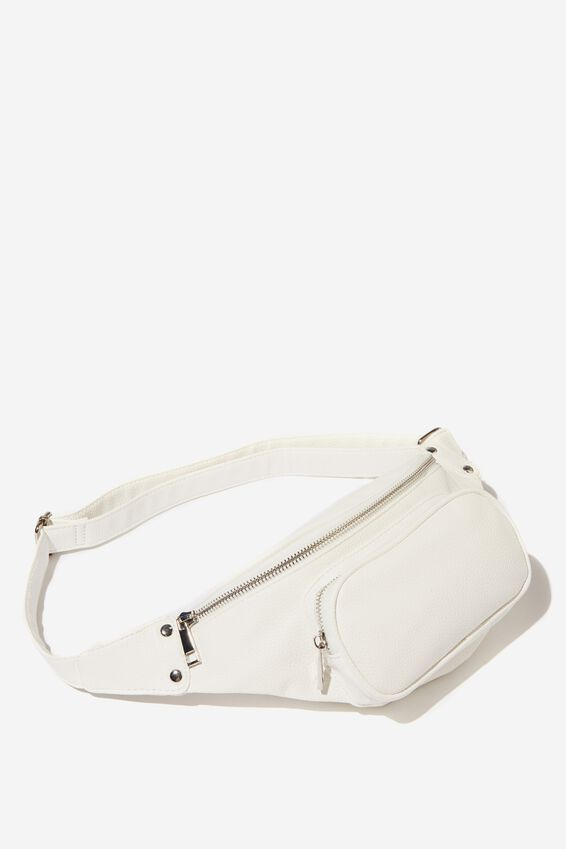 Casey Large Belt Bag, WHITE PEBBLE