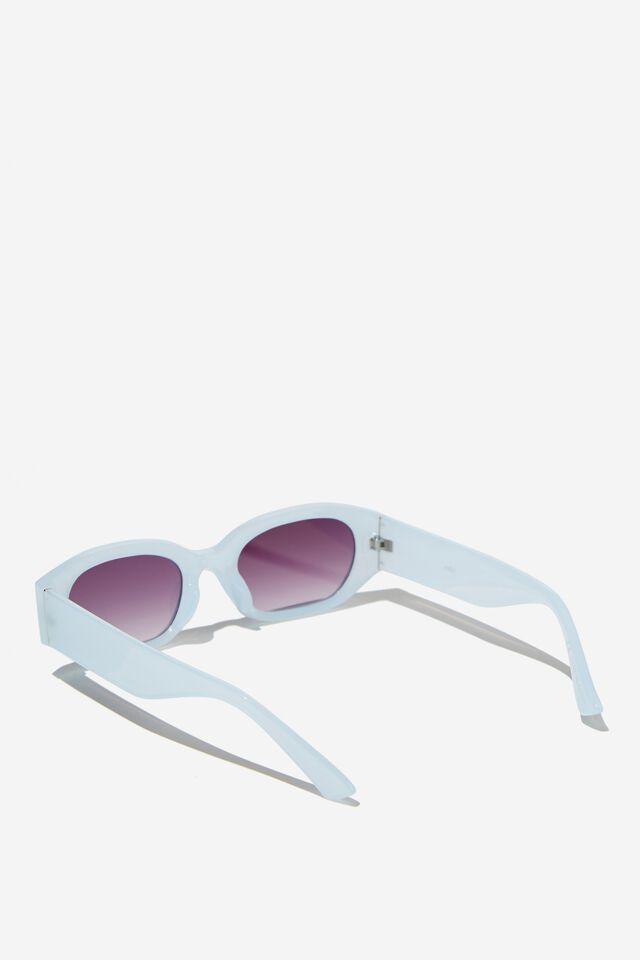 Annabelle Angular Sunglasses, DUSK BLUE