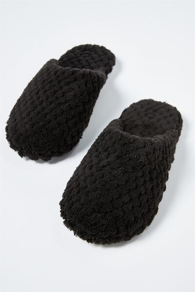 The Plush Slipper, BLACK TEXTURE