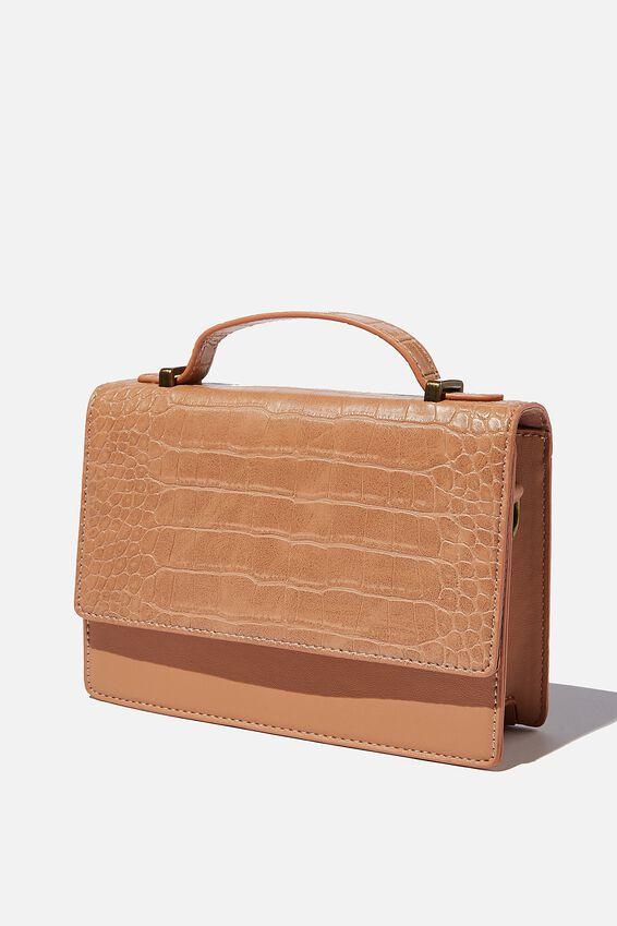 Aria Chain Strap Cross Body Bag, TAN TEXTURE