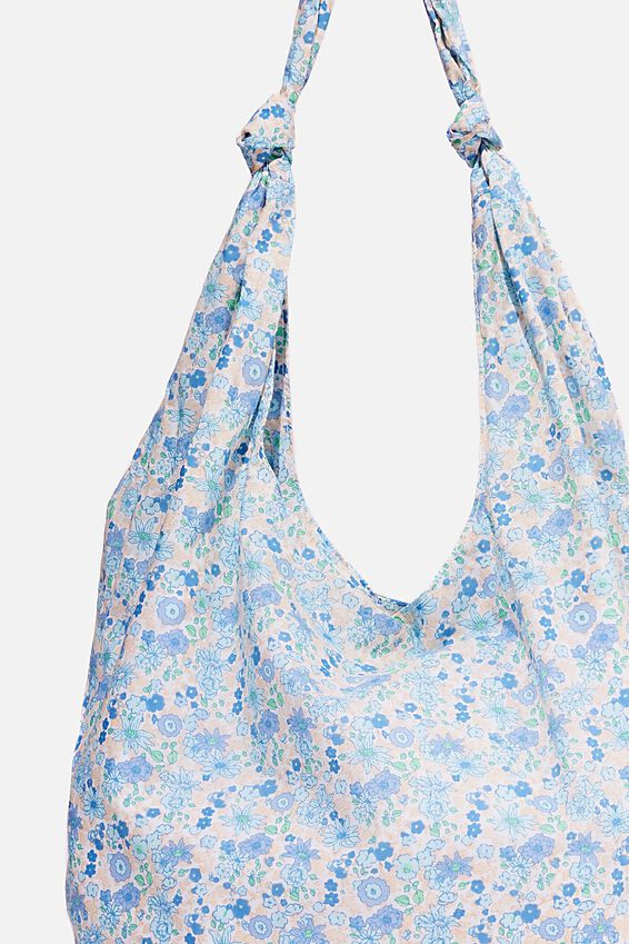 Endless Summer Slouch Tote, ILLUSION BLUE/DITSY