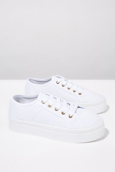 Willow Platform Sneaker, BRIGHT WHITE