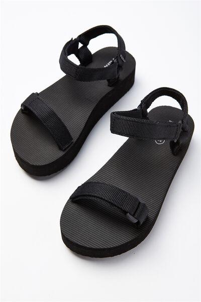 Stormy Flatform Sandal, BLACK