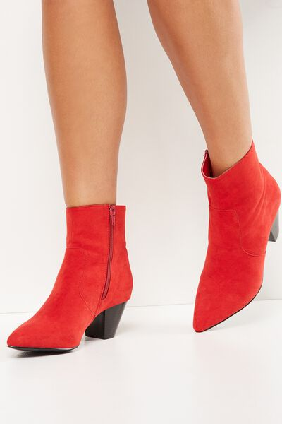Pitt Pointed Boot, RED MICRO