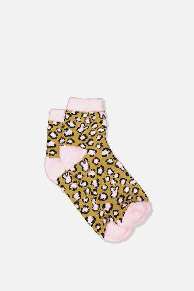 Fun Sock, FLUFFY BUNNY LEOPARD