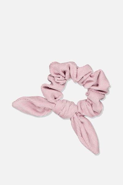 Tribecca Tie Scrunchie, BLUSH MINI CORD