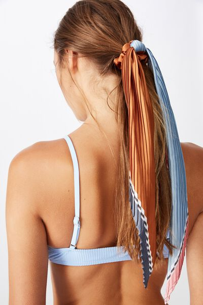 New York Convertible Scrunchie, CORNFLOUR COLOUR BLOCK