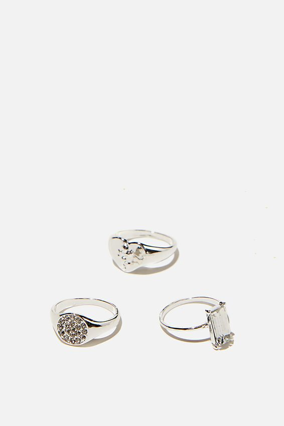 Brighter Days Ring Set, ENGAGEMENT SILVER