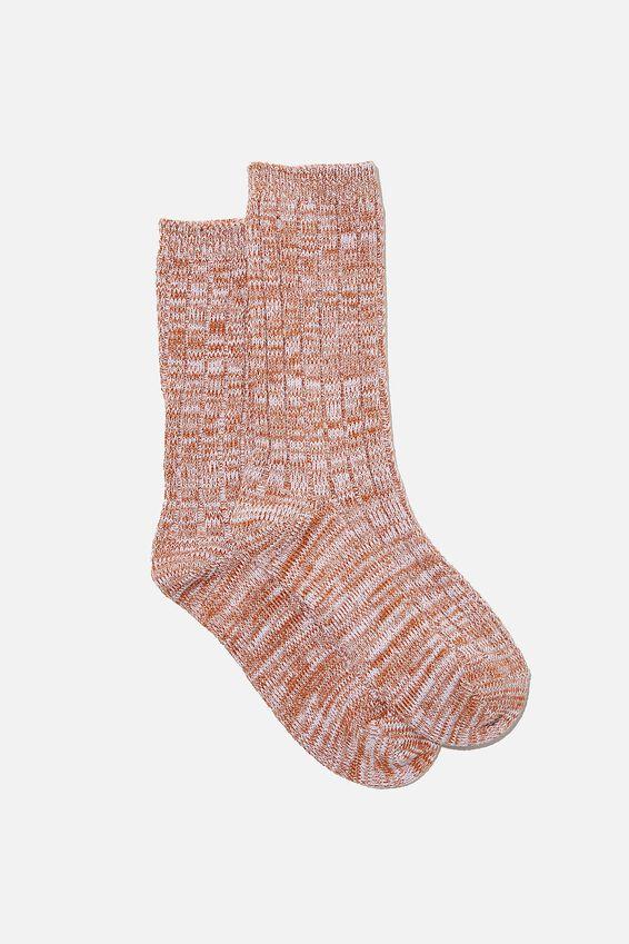 Cosy Sock, LILAC MARLE
