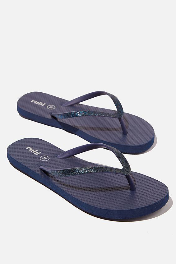 The Rubi Flip Flop, NAVY GLITTER