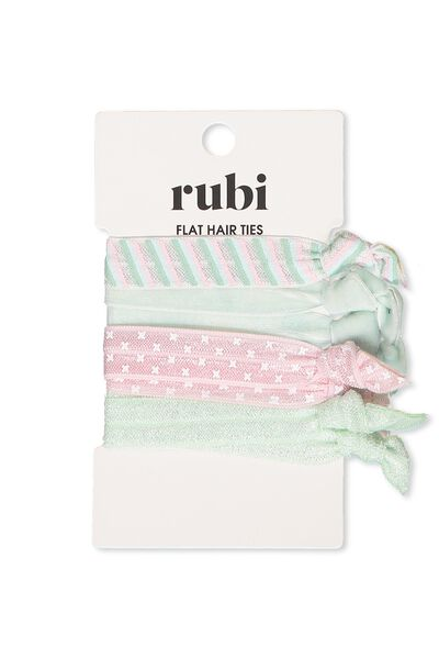 Hair Ties, MISTY JADE/PARFAIT PINK