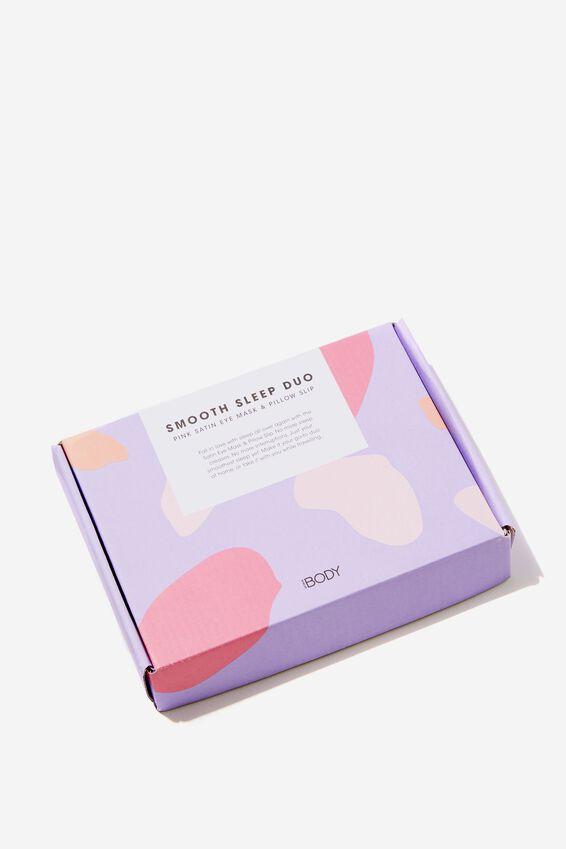 Personalised Satin Eyemask & Pillow Slip Set, CRYSTAL PINK