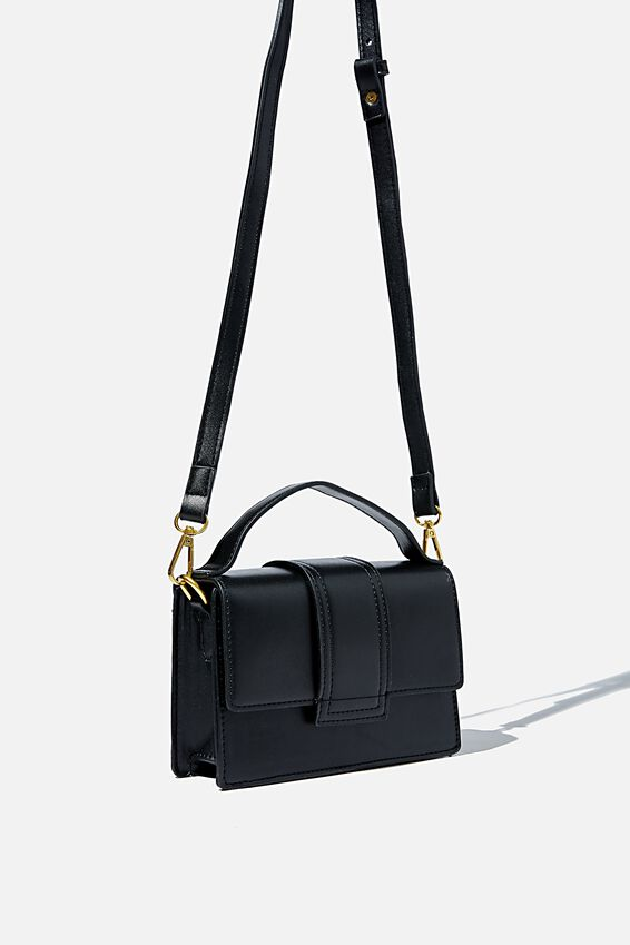 Cindy Cross Body Bag, BLACK
