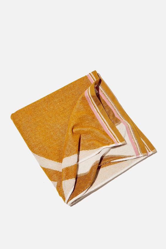 Bondi Rectangle Towel, YELLOW SUNSHINE
