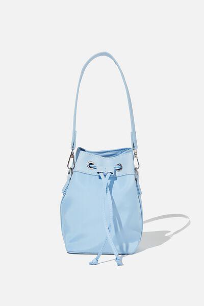 Nylon Bucket Bag, AUTHENTIC BLUE