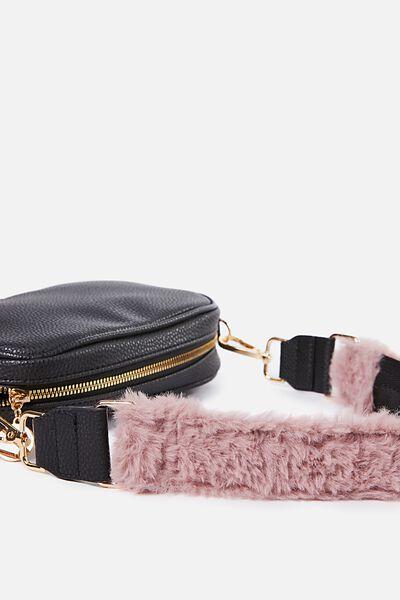 Short Bag Strap, DUSTY ROSE PLUSH