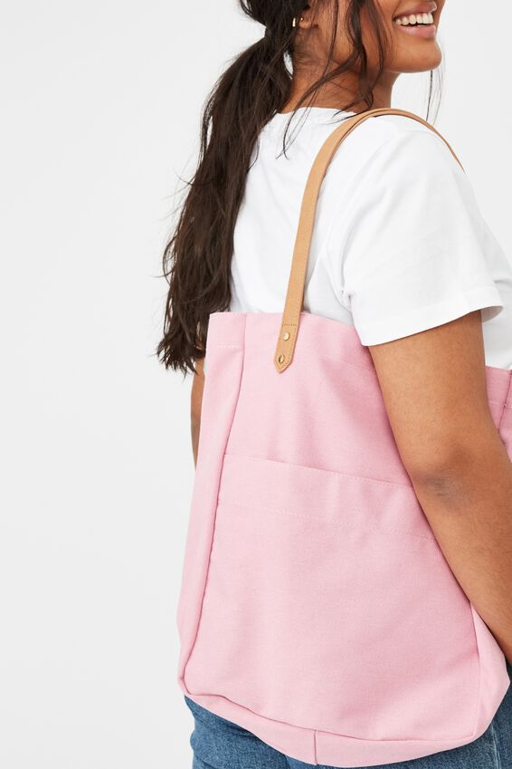 Olive Carryall Tote Bag, LILAS PINK