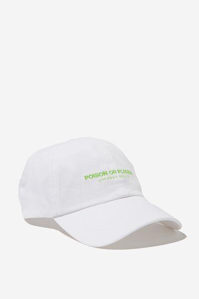 Kaia Cap, WHITE/POISON OR PLACEBO