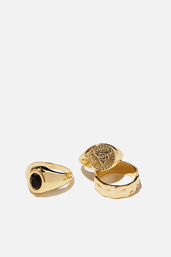 Brighter Days Ring Set, EVIL EYE GOLD